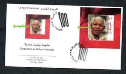 2018- Tunisia - Centenary Of Nelson Mandela- FDC - FDC