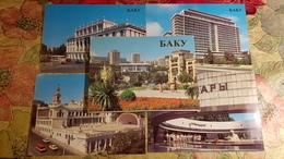 Big Lot - AZERBAIJAN. BAKU. Full 18 POSTCARDs Set - 1983 - Railway Station - Lenin Monument - Azerbaïjan