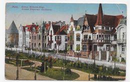 (RECTO / VERSO) METZ EN 1911 - AVENUE EMPEREUR GUILLAUME - CASSURES ANGLES HAUT- TIMBRE ALLEMAND -  CPA - Metz