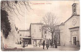 CPA GARD.SAINT JEAN DU GARD.LA PLACE - Saint-Jean-du-Gard