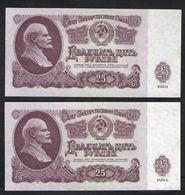 USSR 25R 1961 Series Зи  2 Pieces UNC - Rusland