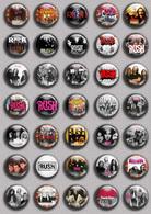 RUSH BAND Music Fan ART BADGE BUTTON PIN SET  (1inch/25mm Diameter) 35 DIFF - Music