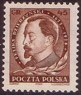 1951, Poland, Mi 700, Politician, Communist, F. Dzierzynski  MNH** - Ungebraucht