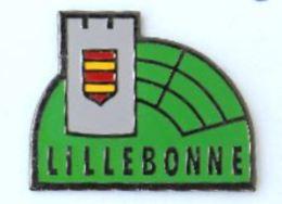 Pin's LILLEBONNE (76) - Le Donjon - Le Blason  - Les Arénes - Publiguides - H228 - Cities