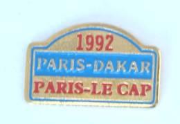 Pin's  PARIS DAKAR - PARIS LE CAP - 1992 - Arthus Bertrand - H236 - Rallye