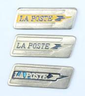 Lots De 3 Pin's LOGO De LA POSTE Différents - H245 - Badges