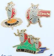 Lots De 3 Pin's COCCINELLE De LA POSTE Différents - H246 - Badges