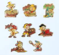 Lots De 8 Pin's SOLAIL - Indien - Viking - Mousquetaire - Tennisman - Torero  Etc...  - H248 - Badges
