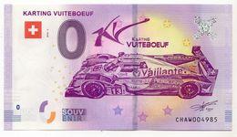 2018-2 BILLET TOURISTIQUE SUISSE 0 EURO SOUVENIR N°CHAW004985 KARTING VUITEBOEUF - EURO