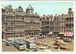 "8Eb-554: Brussel '50's""...grote Markt: Autobussen..auto's.... - Maritiem"