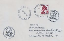 LSJP COVER STAMP OF THE SANTOS DUMONT AIRPORT 1977 - Brasile