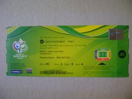 FIFA WORLD CUP GERMANY 2006 - TICKET OF CZECH REPUBLIC X ITALY, JUNE 22 IN HAMBURG - Biglietti D'ingresso