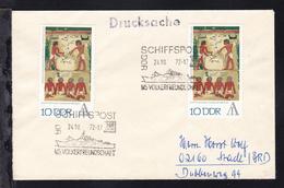 SCHIFFSPOST DDR DSR LINES MS VÖLKERFREUNDSCHAFT 24.10.72 Auf Brief - Deutschland