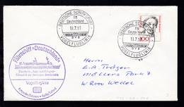 DEUTSCHE SCHIFFSPOST FS DEUTSCHLAND DB VOGELFLUGLINIE 19.7.91 + Cachet Auf Brief - Deutschland