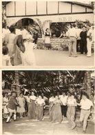 Lot De 2 Photographies De Dakar (Sénégal), Les 3 B (Béarn, Bigorre, Basque), Course En Sac + Kermesse, Photos De 1955 - Africa