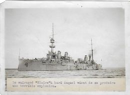 Photo 1911 - Cuirassé GLOIRE - Terrible Explosion à Bord - - Boats