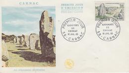 Enveloppe  FDC   1er   Jour    FRANCE   Alignements  De  CARNAC   1965 - 1960-1969