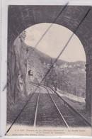 Suisse .Chemin De Fer Martigny-Châtelard - La Grotte Larze Et Le Tunnel De Revennez - VS Wallis
