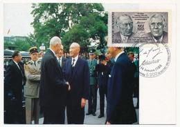 ALLEMAGNE - Carte Maximum 80 Pf De Gaulle / Adenauer - 14 Janvier 1988 - De Gaulle (General)