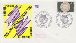 Enveloppe  FDC   1er  Jour    FRANCE   Cinquantenaire  Des  CHEQUES  POSTAUX     1968 - 1960-1969