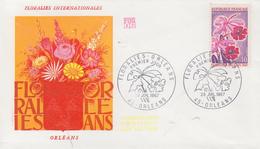 Enveloppe  FDC   1er  Jour    FRANCE    Floralies    ORLEANS     1967 - 1960-1969