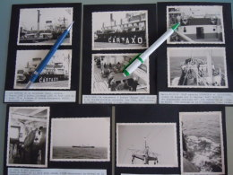 18 Photo's Form. 7,2 X 10,2 Cm D'un Voyage A Bord Du Cartaxo Anvers-Porto 1962 Incl. Photo S/s Maskeliya Pendennis Arrow - Boats