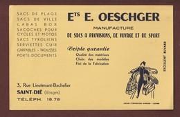 BUVARD --  MANUFACTURE - Ets. OESCHGER à SAINT-DIE. 88 - Imprimerie à LIMOGES -  2 Scannes. - Buvards, Protège-cahiers Illustrés