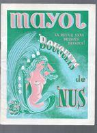 Paris : Programme MAYOL  : BOUQUETS DE NUS (c 1976) (CAT 1104) - Programs