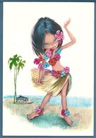 CPM - FILLETTE EN DANSEUSE TAHITIENNE - Illustrateurs & Photographes