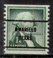 USA Precancel Vorausentwertung Preo, Bureau Texas, Amarillo 1054-61 - Vorausentwertungen
