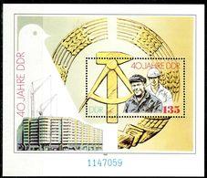 DDR - Mi Block 100 = 3283 - ** Postfrisch (059) - 135Pf   40 Jahre DDR - [6] Oost-Duitsland