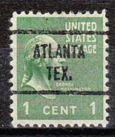 USA Precancel Vorausentwertung Preo, Locals Texas, Atlanta 721 - Vereinigte Staaten