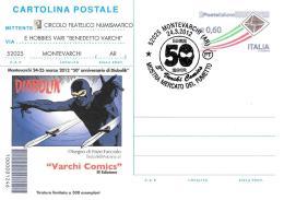 [MD2049] CPM - DIABOLIK - VARCHI COMICS - DISEGNO DI ENZO FACCIOLO - CON ANNULLO 23.3.2012 - NV - Fumetti