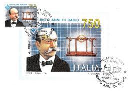 [MD2050] CPM - DIABOLIK - CENTO ANNI DI RADIO - MILANOFIL '94 - CON ANNULLO 11.3.1994 - NV - Francobolli (rappresentazioni)