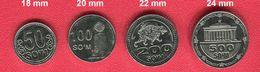 UZBEKISTAN: New 2018 Regular 4 Coins Set 50/100/200/500 SOUM SUM UNC - Uzbenisktán