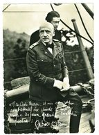 ITALIA - CARTOLINA RICORDO - D'ANNUNZIO E ARCH. MARONI  SULLA NAVE PUGLIA - 6. 1946-.. Repubblica
