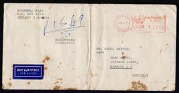 SAUDI ARABIA Postal History Cover, Meter Franking Used With Arabic Date, From JEDDAH-20 - Saudi Arabia