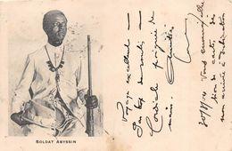 ¤¤  -  ETHIOPIE   -  Soldat ABYSSIN   -  Oblitération En 1904   -  ¤¤ - Ethiopie