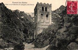 VERNET LES BAINS -66- TOUR DE ST MARTIN DE CANIGOU COTE NORD - Frankreich