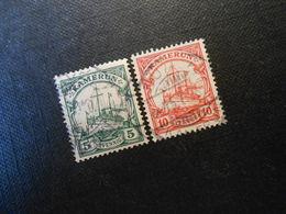 D.R.21 L/22b - 5Pf/10Pf  Deutsche Kolonien (Kamerun) 1905 - Mi 10,00 € - Kolonie: Kamerun