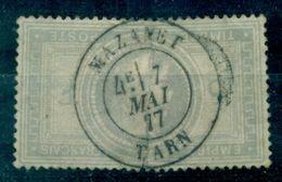 FRANCE N°33 Oblitéré Plein Centre:MAZAMET 7 Mai 1877 Cote : 1150 €. - 1863-1870 Napoléon III. Laure
