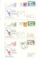 SERIE GRONCHI 170 + 185 + 205 L. VOLO SPECIALE DEL 6 APRILE PER MONTEVIDEO - LIMA - BUENOS AYR- ANNO 1961 - RACCOMANDATA - 1961-70: Storia Postale