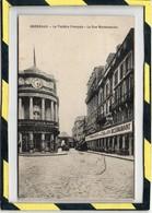 BORDEAUX. - . LE THEATRE FRANCAIS - LA RUE MONTESQUIEU - CAFE BRASSERIE Du COQ D'OR - RESTAURANT. PUBLICITE LE HERAUT - Bordeaux