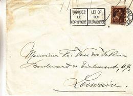 Belgique - Lettre De 1937 - Oblit Bruxelles - Exp Vers Louvain - Insectes - Doryphore - Lettres & Documents