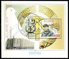 DDR - Mi Block 100 = 3283 - OO Gestempelt (789) - 135Pf    40 Jahre DDR - [6] Oost-Duitsland