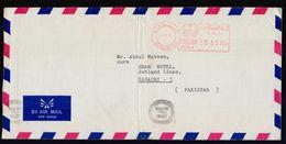 SAUDI ARABIA Postal History Cover, Meter Franking Used With Arabic Date, From JEDDAH-80 - Saudi Arabia
