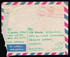 SAUDI ARABIA Postal History Cover, Meter Franking Used With Arabic Date, From JUBAYL-2 - Saudi Arabia