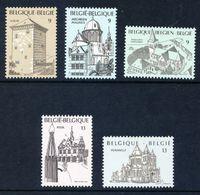 Belgie 1988, Belgique, Belgium, Belgien, YT 2288 - 2292, Mi. 2340 - 2344, Chateaux, Castels, Kastelen, MNH - België