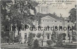 AK Dessau Schloss Georgium 1913 Schlosspark Statue - Dessau