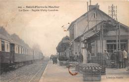 58 - NIEVRE / Saint Pierre Le Moutier - 585660 - La Gare - Beau Cliché Animé - Défaut - Autres Communes